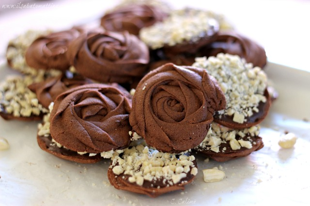 chocolate cookies biscotti al cioccolato