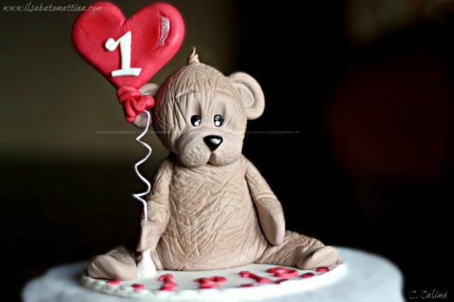 orso pasta di zucchero teddy bear gum paste 2