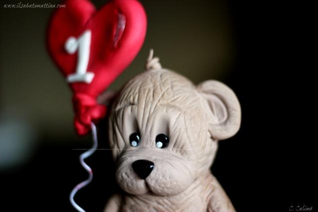 orso pasta di zucchero teddy bear gumpaste 3